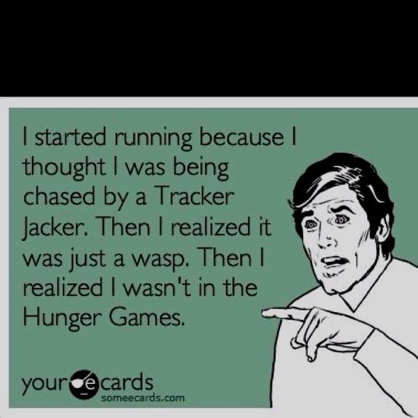 Hunger Games #funny - shake off the lse and start meeting the people in ur life 50/50 instead of expecting them to coddle u.