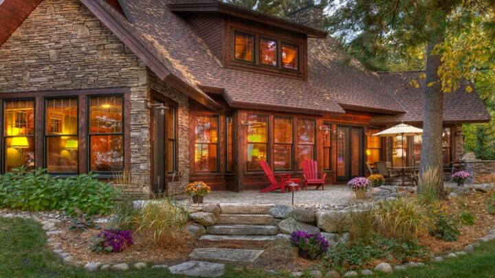 I know it is not a log cabin but it has that rustic feel