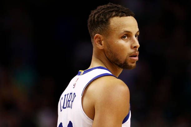 Stephen Curry of the Golden State Warriors looks on during the third quarter against the Boston Celtics at TD Garden on November 16 2017 in Boston...