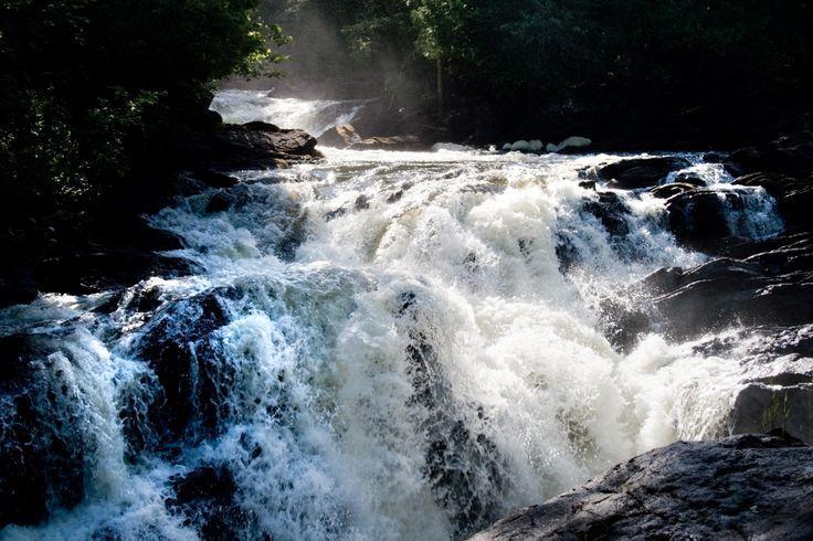 Egan Chute's roaring waters.  Bancroft, Ontario  Photo by Lynda Thomson