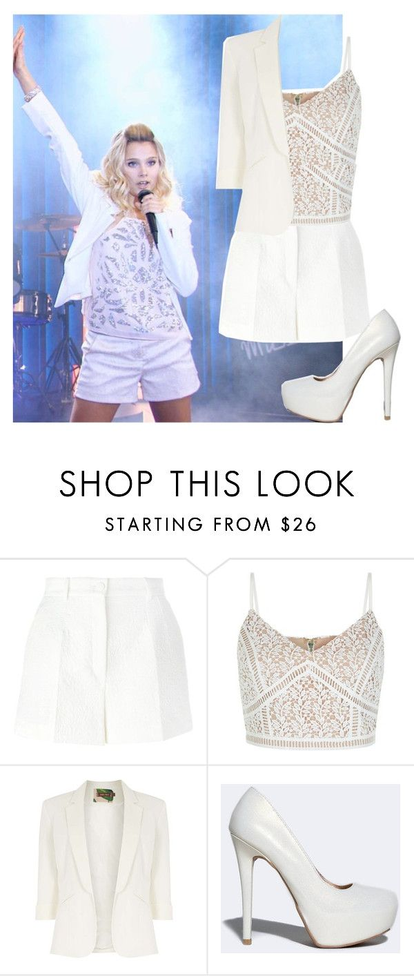 """soy luna ambar"" by maria-look ❤ liked on Polyvore featuring Dolce&Gabbana, New Look, Jolie Moi and Qupid"