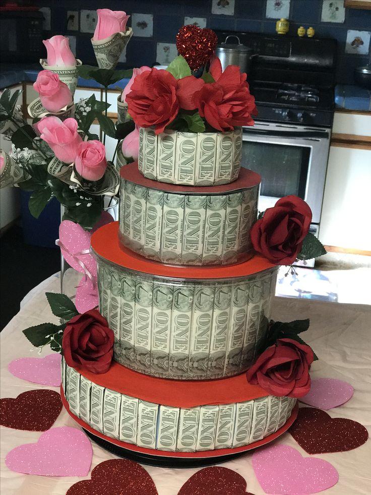 Valentine's Money cake