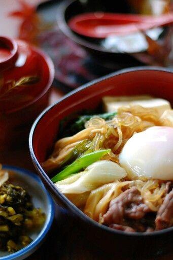 辻の茶屋 あか牛のすき焼き丼―南小国の食べ物―