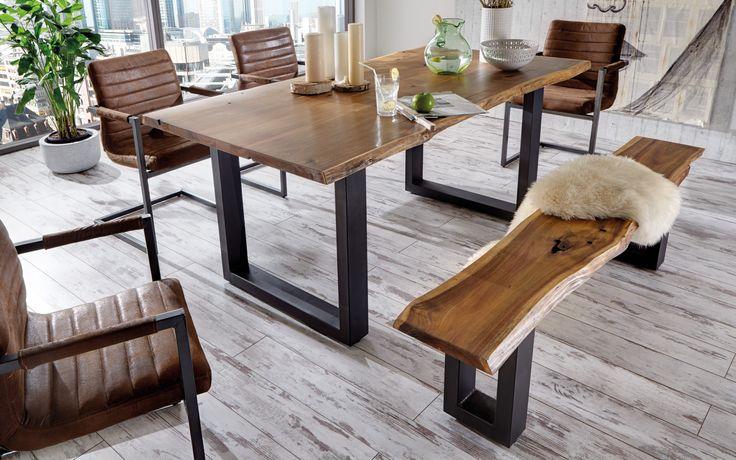SAM® Massivholz Akazie Tisch 180 cm Quentin Demnächst ! - Produktfoto