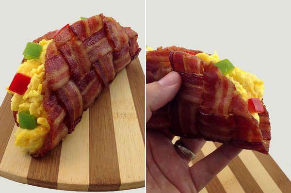 The bacon weave taco improves a timeless food design tacos cinco