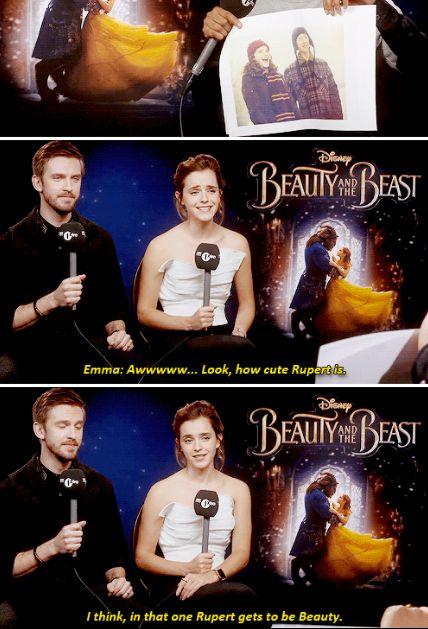 Emma Watson and Dan Stevens play `Beauty and the Beast` lol