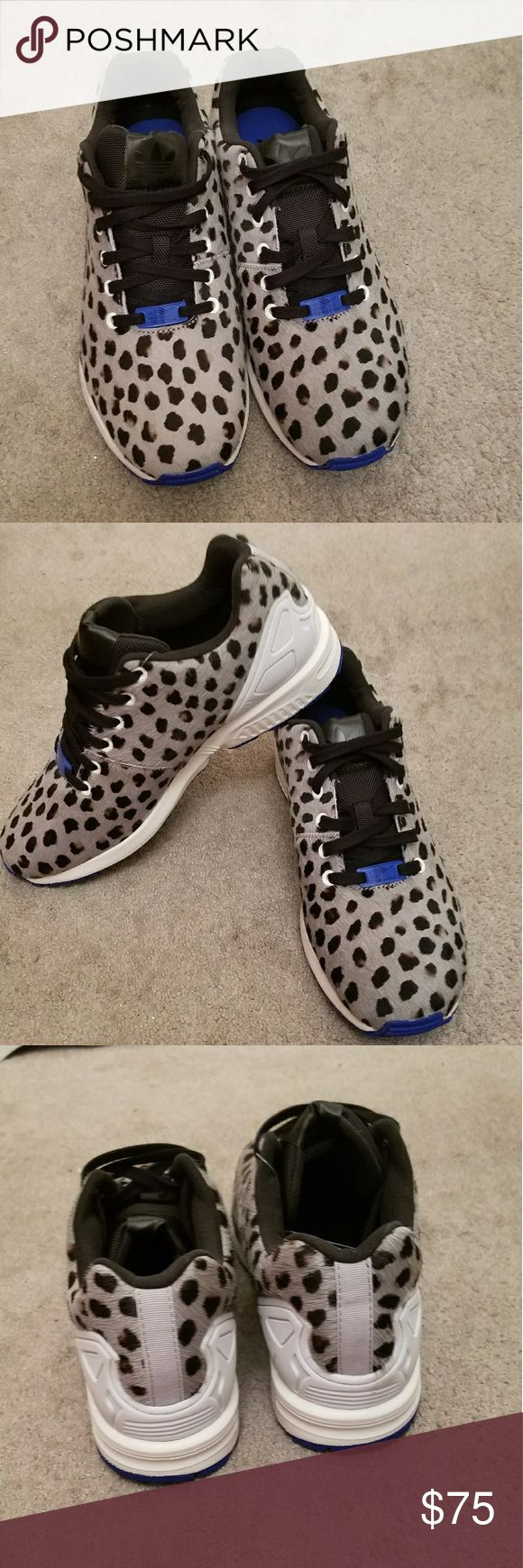 Adidas ZX Flux Leopard Print  Adidas Originals ZX Flux Style: S79084 Tan and Black Men's Size: 8.5 Brand New, Never Used Guaranteed Authentic. Does not come with box. adidas Shoes Sneakers