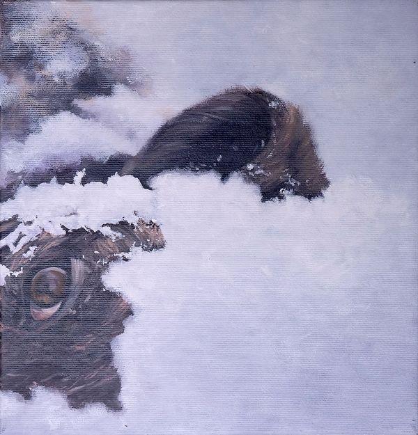 Artist: Zoltán Béla - Inevitable 3 (2013), 24 x 24 cm, oil on canvas
