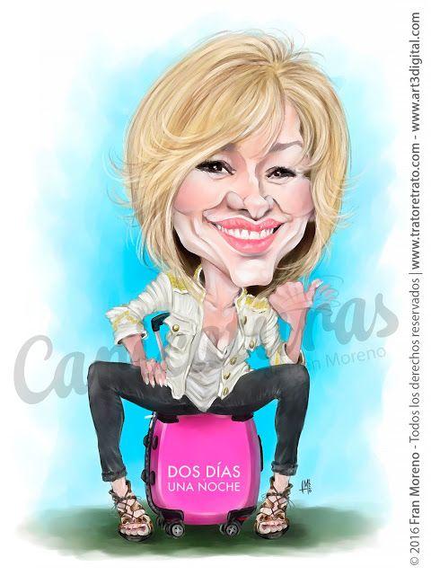 """Caricatura de la presentadora del programa de TV """"Espejo Público"""" Susanna Griso por Fran Moreno"""