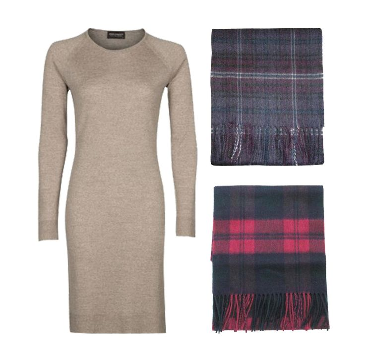 How to wear the tartan trend for a chic John Smedley look www.johnsmedley.com