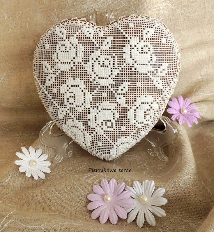 Heart with roses lace pattern | Cookie Connection