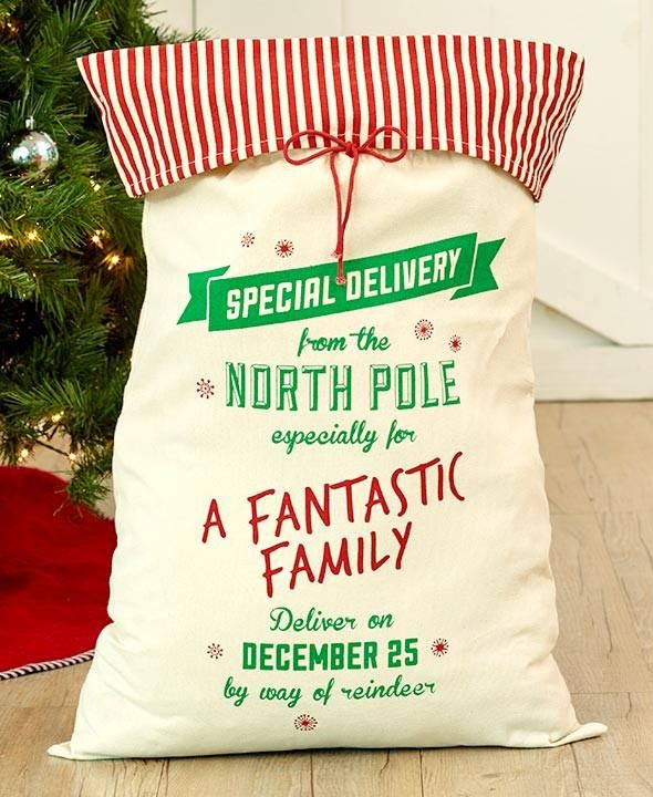 Special Delivery Oversized Canvas Christmas Gifts Sacks-Boy-Girl-Family-Dog