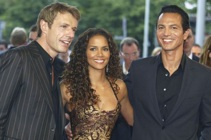 """<p>Although the movie failed to wow crowds and bring in big box-office numbers, Berry, seen here with co-stars Lambert Wilson and Benjamin Bratt, was a good sport about it. She even attended the Razzies in person to pick up her trophy, <a rel=""""nofollow"""" href=""""http://www.mtv.com/news/1497569/halle-berry-slams-catwoman-at-razzie-awards/"""">saying in her acceptance speech,</a> """"I want to thank Warner Bros. for casting me in this piece-of-s***, god-awful movie.""""<br /> (Photo: Getty Images) </p>"""