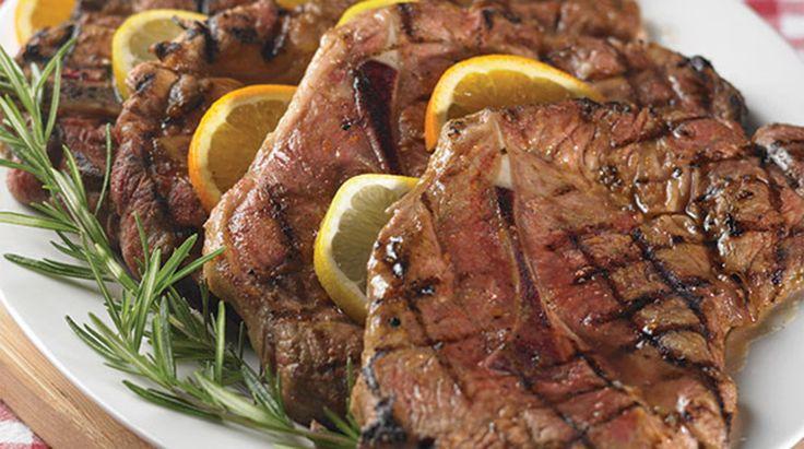 Grilled Marinated Pork Shoulder Blade Steaks | Thrifty Foods Recipes