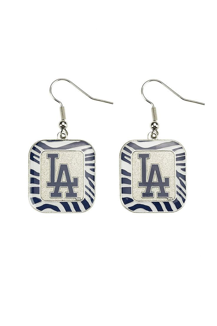 20 best los angeles dodgers jewelry watches images on pinterest mlb los angeles dodgers blue zebra earrings price 499 buycottarizona Image collections