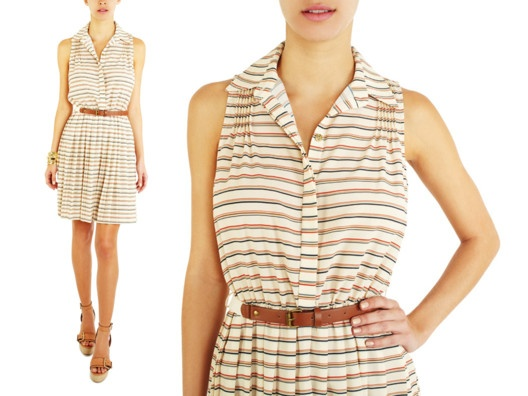 Willow & Clay Shirtdress from Veronica Webb So pretty: Clothing, Fabrics Shirtdress, Clay Shirtdress, Beautiful, Dresses, Willow, Stripes Shirtdress, Claire S Style, Length Shirtdress