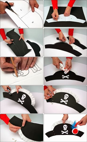 Chapéu de pirata vai complementar a sua fantasia!