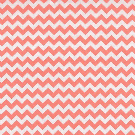 Coral Chevron Fitted Crib Sheet, Multicolor