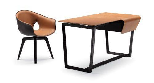 Fred Desk, Ginger Chair, by Roberto Lazzeroni, for Poltrona Frau:  Boards, Roberto Lazzeroni, Fred, Chairs, Desks, Poltronafrau, Furniture, Frau Chair, Dining Tables