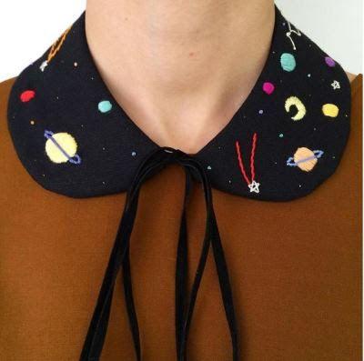 Space Collar embroidered by İrem Yazıcı