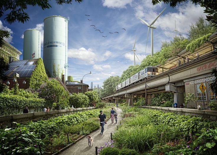 the green future futurecity planningcities futuristic