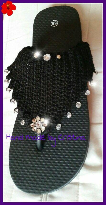 Crochet flip flops