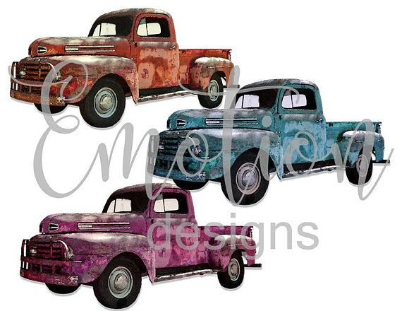 Vintage Truck Bundle Svg Png Instant Download Sublimation