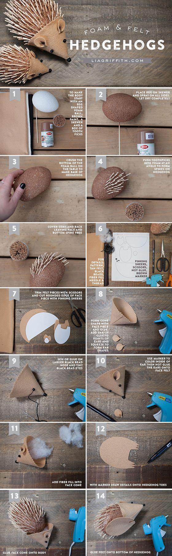 DIY Hedgehog for Kids to Craft