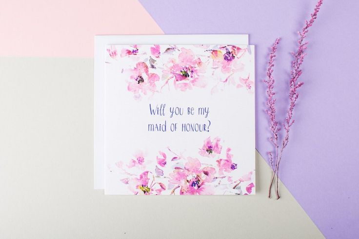 A beautiful card to make your MOH feel special. Send her this pretty 'Will You Be My Maid Of Honour?' card and you might just delay the happy tears for a little while longer! Unless of course you want them, in which case, hand deliver it and cry together!