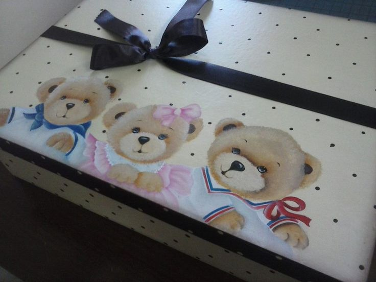 caixa trio de urso