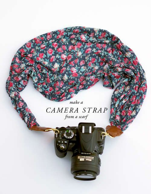 DIY Scarf Camera Straps; because one day I will be among the famous, and I need to look fashionable.