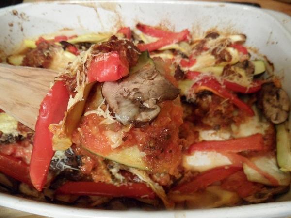 roasted ratatouille lasagna napoleons recipe dishmaps lasagna roasted ...