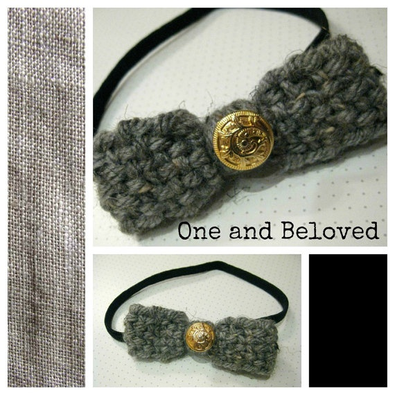 Unique Handmade Black Elastic Headband by OneandBeloved on Etsy, €6.00