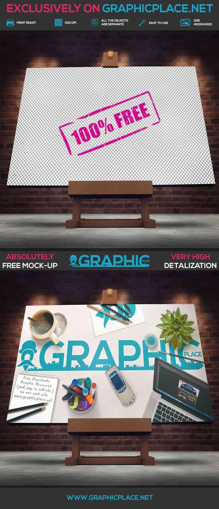 Studio Easel - Free PSD Mockup.  #art #picture #studioeasel #freeMockUp #freepsd #freepng #psd #mockup #studioeaselmockup  DOWNLOAD FREE MOCKUP HERE: http://www.graphicplace.net/studio-easel-free-psd-mockup/  MORE FREE GRAPHIC RESOURCES: http://www.graphicplace.net/