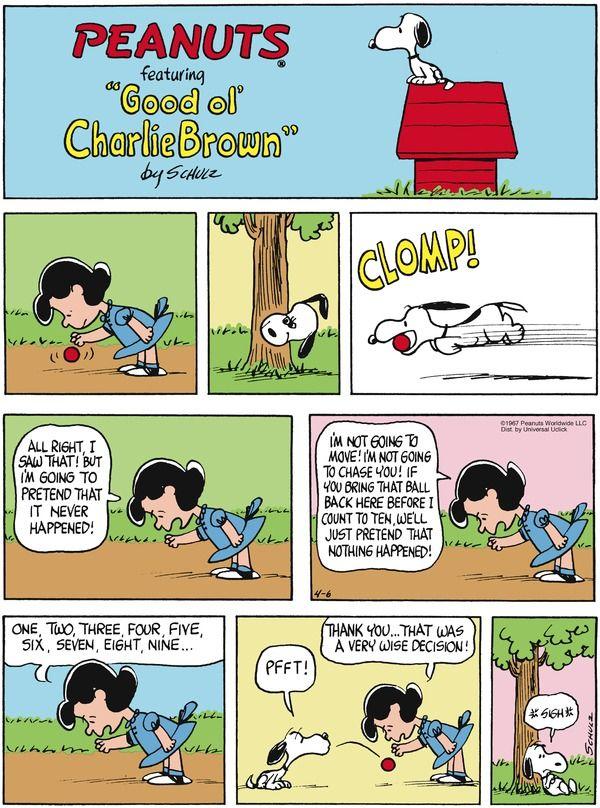 Jacques and me. Peanuts for 4/6/2014   Peanuts   Comics   ArcaMax Publishing