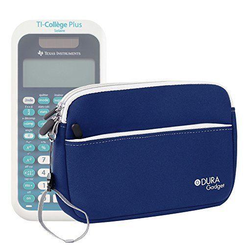 Housse en néoprène bleu pour Texas Instruments TI-College Plus Calculatrice scientifique + poignée et poche frontale DURAGADGET –…