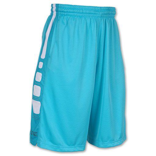 Men's Nike Elite Stripe Basketball Shorts| FinishLine.com | Gamma Blue/Mine Grey/White