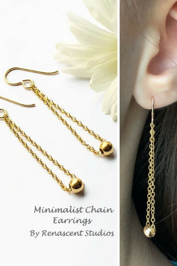 These dainty and feminine earrings are perfect for everyday. They are light and comfortable and have a classic style which you can dress up or dress down.