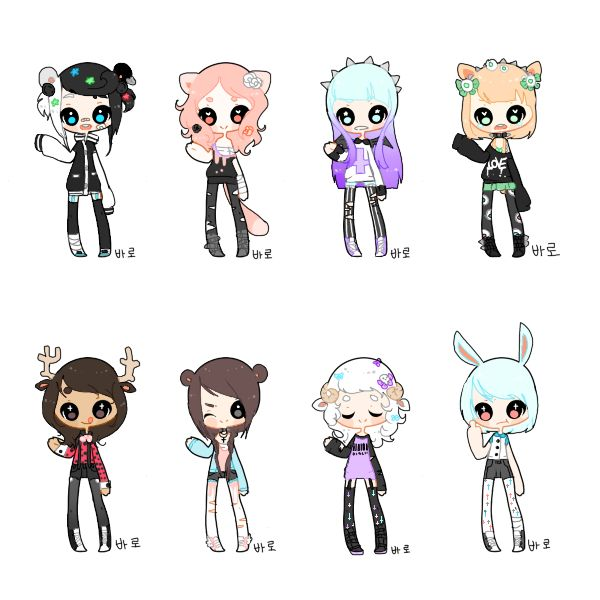 [Big Pastel Goth Set 2-CLOSED] by Funky-Intuition on deviantART