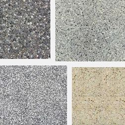 Exposed aggregate concrete types
