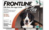 $287.48-$270.00 Frontline Plus for Dogs 89-132 pounds, 12-month supply. Frontline Plus effectively targets all stages of fleas. Fipronil collects in the oils of the skin and hair follicles and continues to be released from hair follicles onto the skin and coat resulting in long-lasting activity against fleas and ticks. By effectively stopping the development of new fleas, Frontline Plus completel ...