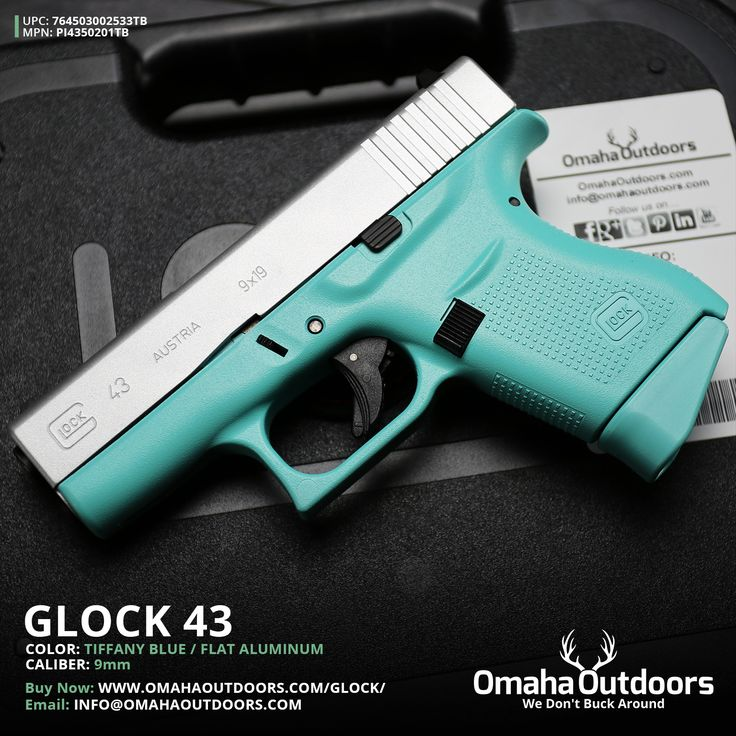 Glock 43 Tiffany Blue 9mm 6 RDS 3.39″ Handgun - Omaha Outdoors