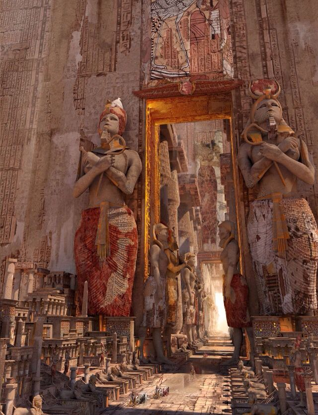Luxor's Door by Te Hu. The scale isn't obvious until your eyes hit the chariots at the bottom.