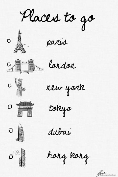 Paris / London / New York / Tokyo  My love...