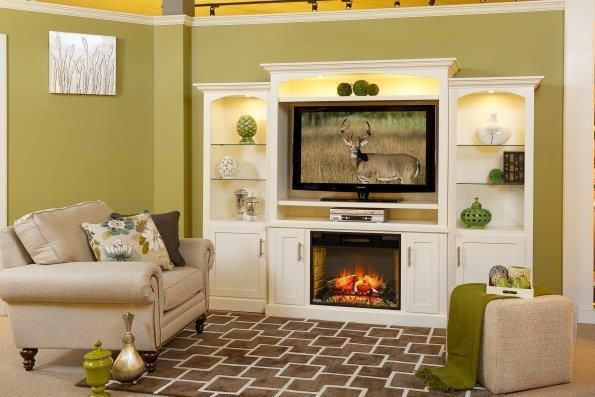 Amish Park Lane Electric Fireplace Entertainment Center With