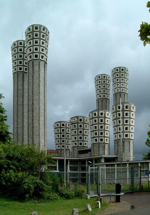 1957Ventilation Building   Architect: Dirk Roosenburg   Velsertunnel, Velsen, Netherlands   Photo: Klaas Vermaas - Via