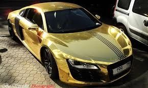 Who doesn't want a gold car!  #doesn #luxurycars #coolcars