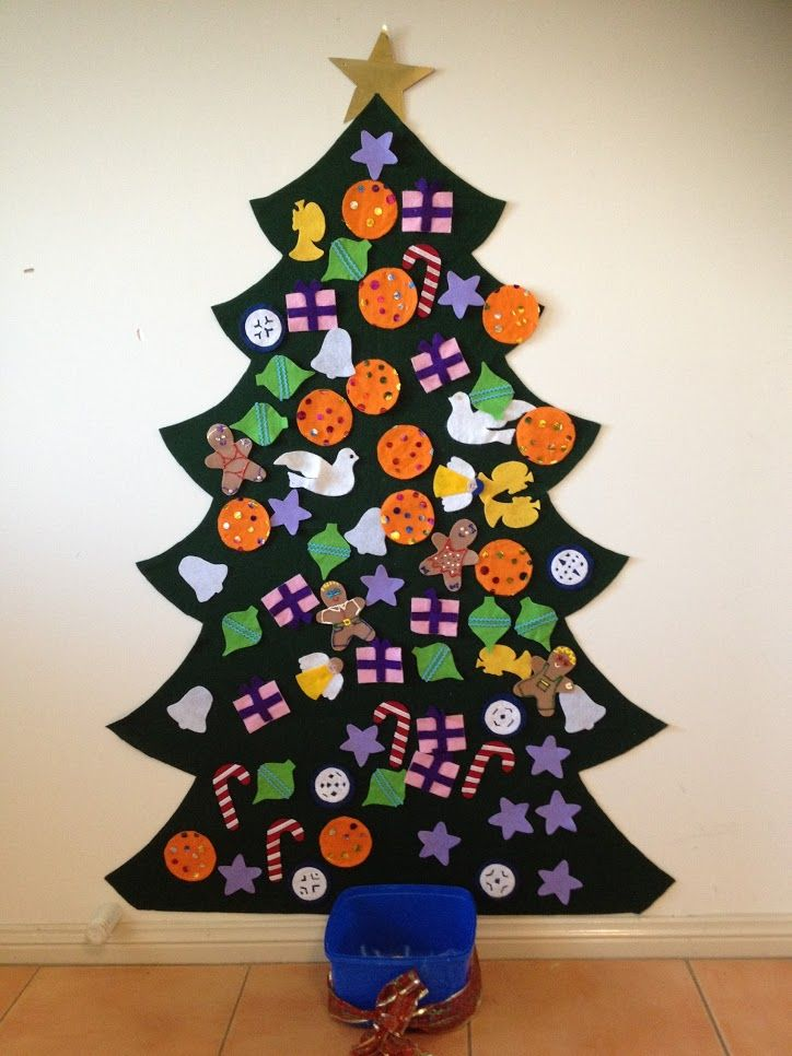 Faith and Felt Obsession: Wall Christmas Tree