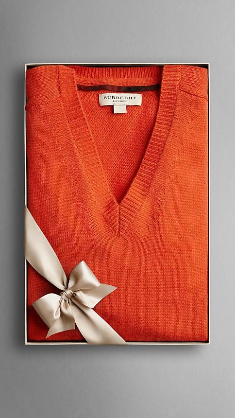 Burberry V-Neck Cashmere Sweater...Gimme