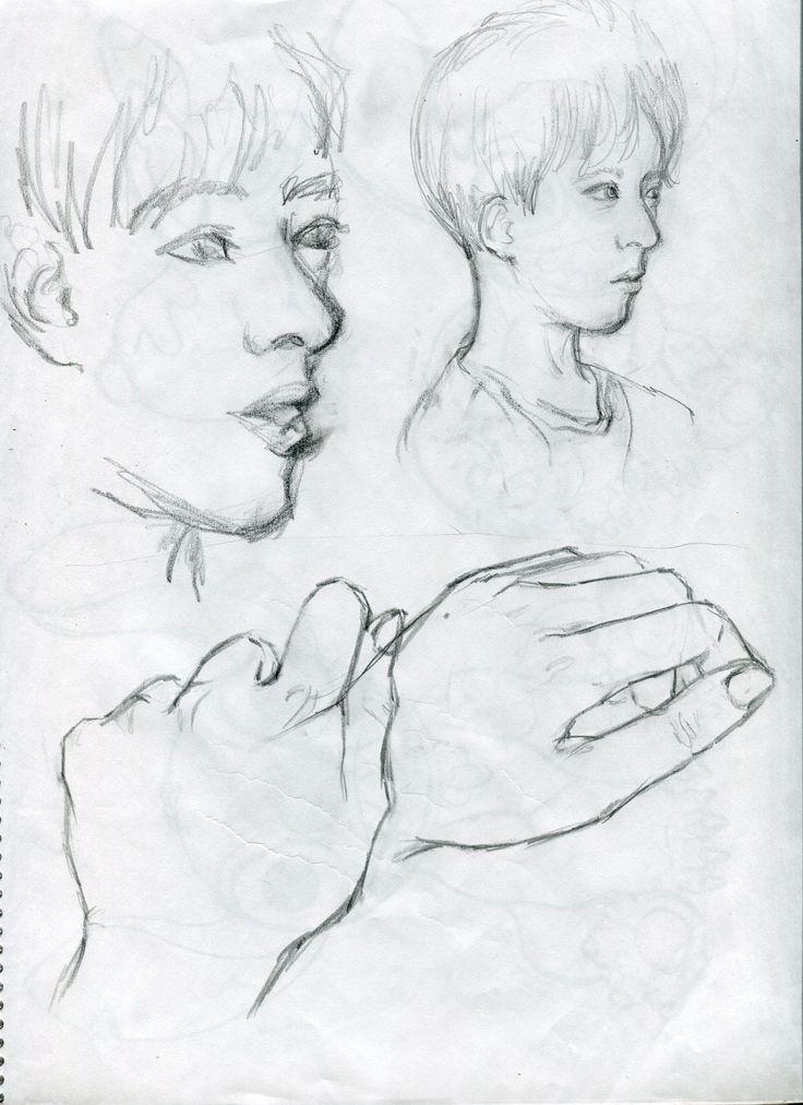 hadn face croquis drawing /2014.12